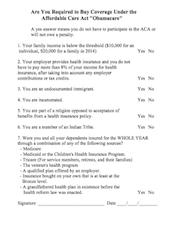obamacare mandatory